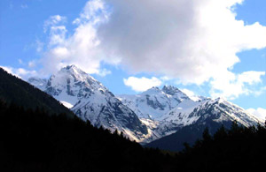 Caucasus Mountains are a chain of mountains between the Black sea and the Caspian Sea.