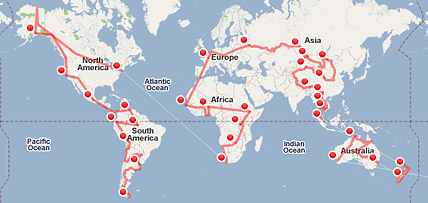 The Website Mapstorcom Assists In Organizing Roundtheworld Trip - Round world map image