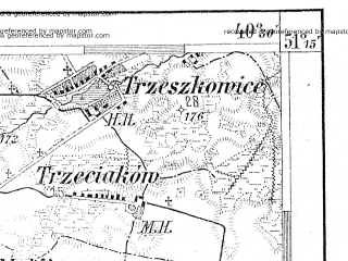 Reduced fragment of topographic map de--aut--075k--01-27--(1912)--N051-15_fE040-00--N051-00_fE040-30; towns and cities Lublin, Swidnik