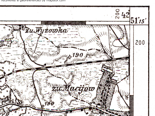 Reduced fragment of topographic map de--aut--075k--01-30--(1915)--N051-15_fE041-30--N051-00_fE042-00; towns and cities Lyuboml', Olesk, Ovlochin, Rymachi