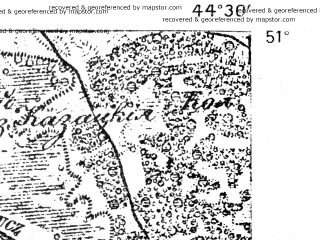 Reduced fragment of topographic map de--aut--075k--02-35--(1914)--N051-00_fE044-00--N050-45_fE044-30; towns and cities Kostopol', Berezno, Drukhov, Kamenka, Mirnoye