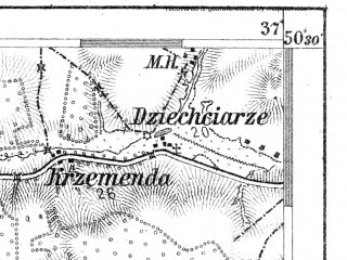 Reduced fragment of topographic map de--aut--075k--04-20--(1908)--N050-30_fE036-30--N050-15_fE037-00; towns and cities Katowice, Sosnowiec, Siemianowice Slaskie, Tarnowskie Gory, Myslowice
