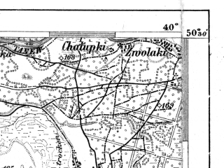 Reduced fragment of topographic map de--aut--075k--04-26--(1914)--N050-30_fE039-30--N050-15_fE040-00; towns and cities Rudnik