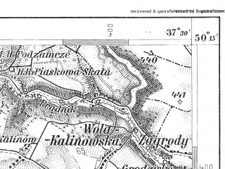 Reduced fragment of topographic map de--aut--075k--05-21--(1907)--N050-15_fE037-00--N050-00_fE037-30; towns and cities Trzebinia, Krzeszowice