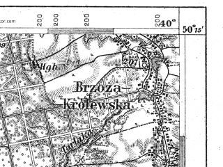 Reduced fragment of topographic map de--aut--075k--05-26--(1900)--N050-15_fE039-30--N050-00_fE040-00; towns and cities Rzeszow, Lancut, Sokolow Malopolski, Kosina