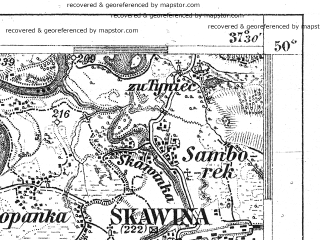 Reduced fragment of topographic map de--aut--075k--06-21--(1906)--N050-00_fE037-00--N049-45_fE037-30; towns and cities Skawina, Andrychow, Wadowice