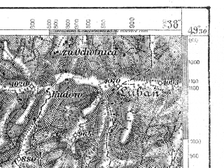 Reduced fragment of topographic map de--aut--075k--08-23--(1918)--N049-30_fE038-00--N049-15_fE038-30; towns and cities Stara Lubovna