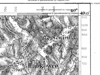 Reduced fragment of topographic map de--aut--075k--09-26--(1913)--N049-15_fE039-30--N049-00_fE040-00