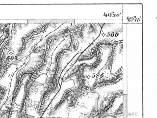 Reduced fragment of topographic map de--aut--075k--09-27--(1913)--N049-15_fE040-00--N049-00_fE040-30; towns and cities Boberka, Stuzhitsa
