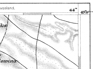 Reduced fragment of topographic map de--aut--075k--09-34--(1880)--N049-15_fE043-30--N049-00_fE044-00; towns and cities Khorostkov, Kopychintsy, Satanov, Staryy Nizhborok, Nizhborok