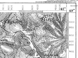 Reduced fragment of topographic map de--aut--075k--10-28--(1894)--N049-00_fE040-30--N048-45_fE041-00; towns and cities Libokhora, Plave, Tukhol'ka
