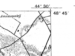 Reduced fragment of topographic map de--aut--075k--10-35--(1915)--N049-00_fE044-00--N048-45_fE044-30; towns and cities Smotrich, Makov, Cherche