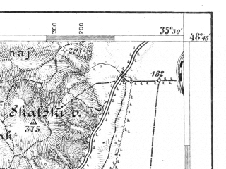 Reduced fragment of topographic map de--aut--075k--11-17--(1900)--N048-45_fE035-00--N048-30_fE035-30; towns and cities Piest'any, Senica