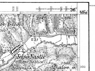 Reduced fragment of topographic map de--aut--075k--11-18--(1896)--N048-45_fE035-30--N048-30_fE036-00; towns and cities Topol'cany