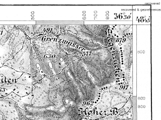 Reduced fragment of topographic map de--aut--075k--11-19--(1885)--N048-45_fE036-00--N048-30_fE036-30; towns and cities Handlova