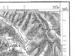 Reduced fragment of topographic map de--aut--075k--11-21--(1879)--N048-45_fE037-00--N048-30_fE037-30; towns and cities Hrinova