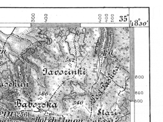 Reduced fragment of topographic map de--aut--075k--12-16--(1896)--N048-30_fE034-30--N048-15_fE035-00; towns and cities Malacky