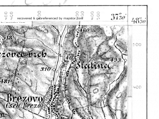 Reduced fragment of topographic map de--aut--075k--12-21--(1908)--N048-30_fE037-00--N048-15_fE037-30; towns and cities Lucenec, Fil'akovo