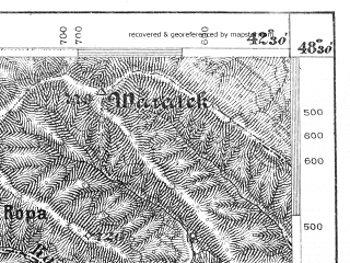 Reduced fragment of topographic map de--aut--075k--12-31--(1880)--N048-30_fE042-00--N048-15_fE042-30; towns and cities Yaremcha, Yasinya, Kosmach, Vorokhta, Banya-berezov