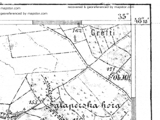 Reduced fragment of topographic map de--aut--075k--13-16--(1918)--N048-15_fE034-30--N048-00_fE035-00; towns and cities Bratislava