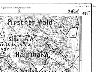 Reduced fragment of topographic map de--aut--075k--14-15--(1918)--N048-00_fE034-00--N047-45_fE034-30; towns and cities Eisenstadt