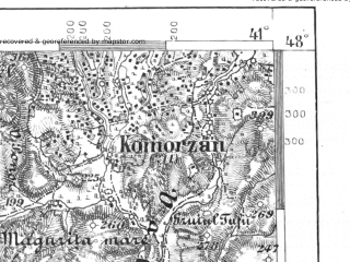 Reduced fragment of topographic map de--aut--075k--14-28--(1913)--N048-00_fE040-30--N047-45_fE041-00; towns and cities Satu Mare, Velikaya Palad'