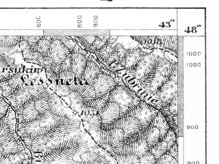 Reduced fragment of topographic map de--aut--075k--14-32--(1915)--N048-00_fE042-30--N047-45_fE043-00; towns and cities Grinyava, Putila, Selyatin
