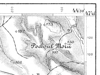 Reduced fragment of topographic map de--aut--075k--15-35--(1903)--N047-45_fE044-00--N047-30_fE044-30; towns and cities Botosani