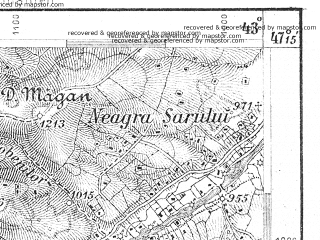 Reduced fragment of topographic map de--aut--075k--17-32--(1907)--N047-15_fE042-30--N047-00_fE043-00; towns and cities Dornisoara