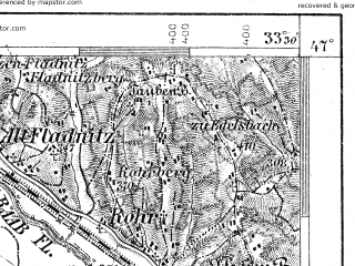 Reduced fragment of topographic map de--aut--075k--18-13--(1914)--N047-00_fE033-00--N046-45_fE033-30; towns and cities Wildon