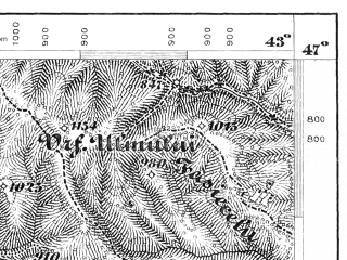 Reduced fragment of topographic map de--aut--075k--18-32--(1875)--N047-00_fE042-30--N046-45_fE043-00; towns and cities Lapusna