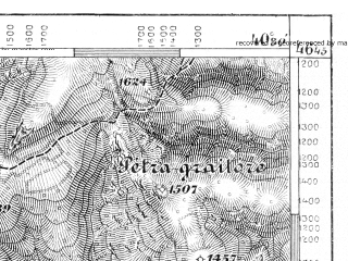 Reduced fragment of topographic map de--aut--075k--19-27--(1886)--N046-45_fE040-00--N046-30_fE040-30; towns and cities Beius, Dr. Petru Groza