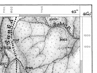 Reduced fragment of topographic map de--aut--075k--19-32--(1876)--N046-45_fE042-30--N046-30_fE043-00; towns and cities Sovata
