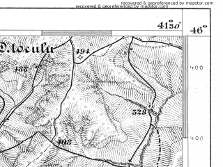 Reduced fragment of topographic map de--aut--075k--22-29--(1876)--N046-00_fE041-00--N045-45_fE041-30; towns and cities Cugir, Sebes