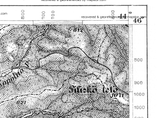 Reduced fragment of topographic map de--aut--075k--22-34--(1876)--N046-00_fE043-30--N045-45_fE044-00; towns and cities Covasna, Tirgu Secuiesc