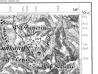 Reduced fragment of topographic map de--aut--075k--23-26--(1884)--N045-45_fE039-30--N045-30_fE040-00; towns and cities Lugoj, Gavojdia