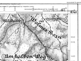 Reduced fragment of topographic map de--aut--075k--23-30--(1876)--N045-45_fE041-30--N045-30_fE042-00; towns and cities Cisnadie