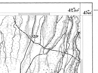 Reduced fragment of topographic map de--aut--075k--23-31--(1876)--N045-45_fE042-00--N045-30_fE042-30; towns and cities Victoria