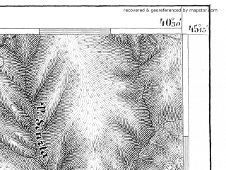 Reduced fragment of topographic map de--aut--075k--25-27--(1884)--N045-15_fE040-00--N045-00_fE040-30; towns and cities Cornea