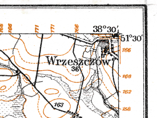 Reduced fragment of topographic map de--aut--075k--a-23--(1914)--N051-30_fE038-00--N051-15_fE038-30; towns and cities Przysucha