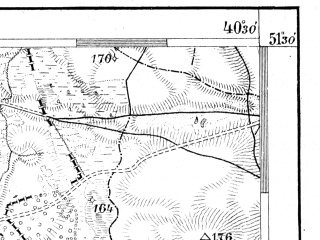 Reduced fragment of topographic map de--aut--075k--a-27--(1915)--N051-30_fE040-00--N051-15_fE040-30; towns and cities Lubartow