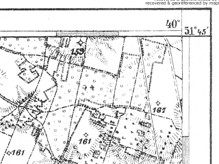 Reduced fragment of topographic map de--aut--075k--b-26--(1914)--N051-45_fE039-30--N051-30_fE040-00; towns and cities Deblin, Ryki