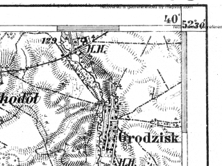 Reduced fragment of topographic map de--aut--075k--e-26--(1911)--N052-30_fE039-30--N052-15_fE040-00; towns and cities Sokolow Podlaski, Wegrow