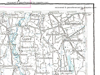 Reduced fragment of topographic map de--aut--200k--27-45--(1903)--N045-30_fE026-30--N044-30_fE027-30; towns and cities Milano, Piacenza, Vigevano, Pavia, Lodi