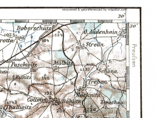 Reduced fragment of topographic map de--aut--200k--30-51--(1924)--N051-30_fE029-30--N050-30_fE030-30 in area of Eibenstock Stausee, Stausee Pohl; towns and cities Leipzig, Halle, Gera, Zwickau, Plauen