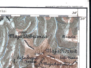 Reduced fragment of topographic map de--aut--200k--37-42--(1903)--N042-30_fE036-30--N041-30_fE037-30 in area of Gjiri I Drinit, Skadarsko Jezero; towns and cities Podgorica, Shkoder, Kruje, Lac, Lezhe