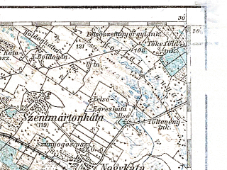 Reduced fragment of topographic map de--aut--200k--37-47--(1914)--N047-30_fE036-30--N046-30_fE037-30; towns and cities Budapest, Dunaujvaros, Kecskemet, Nagykoros, Cegled