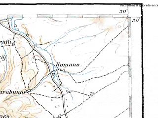 Reduced fragment of topographic map de--aut--200k--39-40--(1912)--N040-30_fE038-30--N039-30_fE039-30 in area of Limni Ioaninon; towns and cities Kozani, Trikala, Ioannina, Koniskos, Koutselion