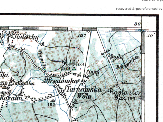 Reduced fragment of topographic map de--aut--200k--39-50--(1914)--N050-30_fE038-30--N049-30_fE039-30; towns and cities Tarnow, Debica, Gorlice, Jaslo, Krosno Odrzanskie
