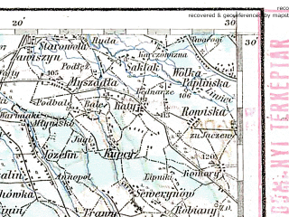 Reduced fragment of topographic map de--aut--200k--39-52--(1914)--N052-30_fE038-30--N051-30_fE039-30; towns and cities Warsaw, Piaseczno, Ursus, Legionowo, Jozefow